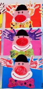 handprint clown craft