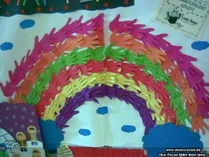 handprint rainbow craft
