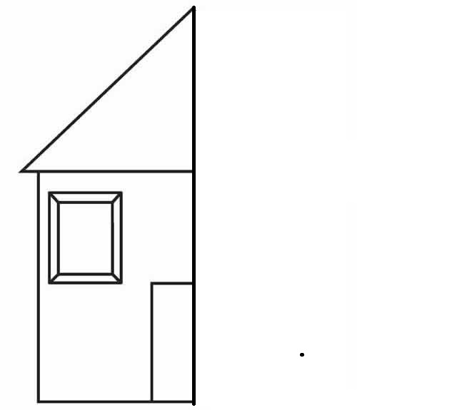 house Symmetry Activity Coloring Pages