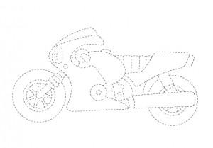 motor bike trace