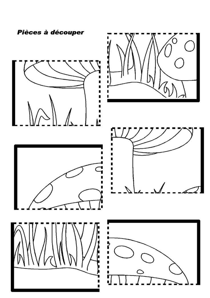 mushroom puzzle worksheet