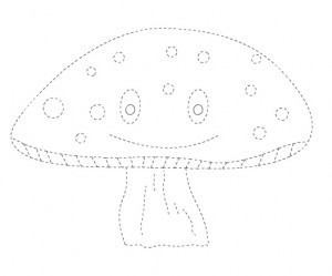 mushroom trace worksheet