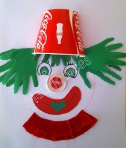 paper cup clown craft