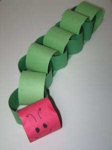 paper roll caterpillar craft