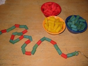 pasta snake craft