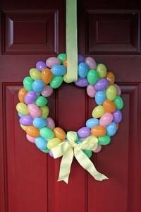 plastic Easter egg wreath