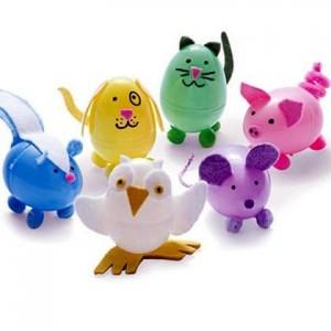 plastic egg animal craft