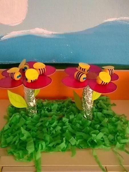 plastic egg bee bulletin board