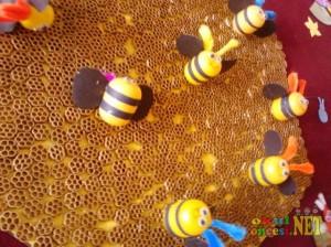 plastic egg bee craft idea for kids