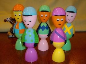 plastic egg boy craft