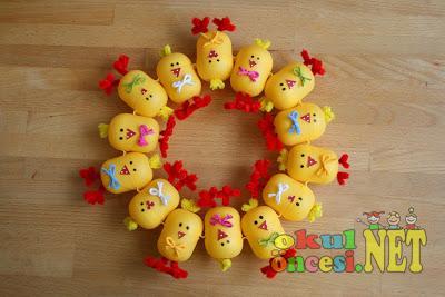 plastic egg chick crafts