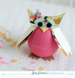 plastic egg owl craft