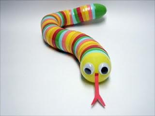 plastic egg snake