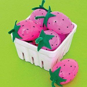 plastic egg strawberry craft