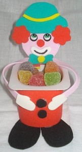 pudding cap clown craft