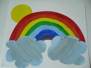 rainbow art project