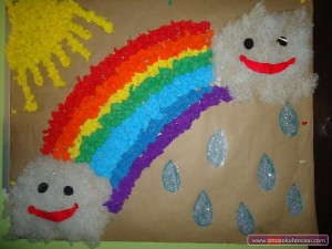 rainbow bulletin board 1