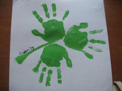 shamrock handprint craft