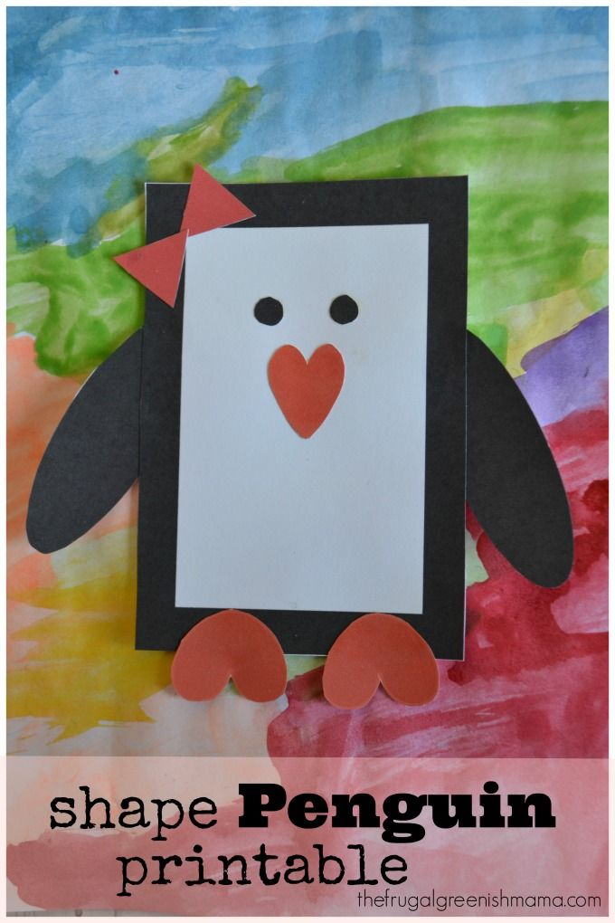 shape penguin craft