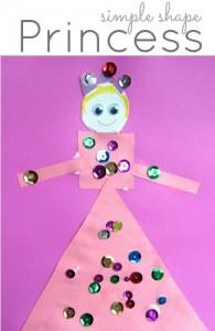 shape princess craft for kids