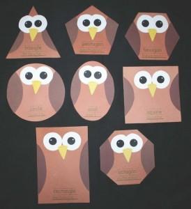 shapes owl craft
