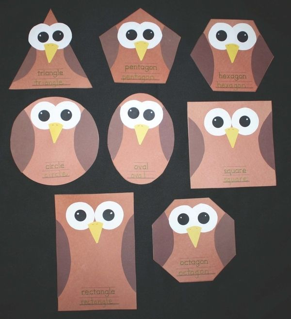 shapes owl craft