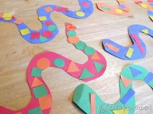 shapes snake craft