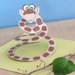 snake craft idea for kids