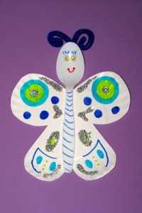 spoon butterfly craft idea for kids