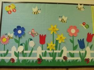 spring bulletin board craft idea