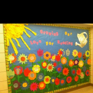 spring flower bullerin board idea