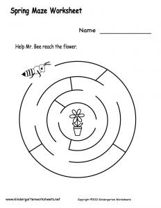 spring-maze-worksheet-printable