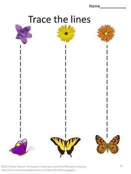 spring trace worksheet for kids