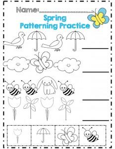 spring worksheet for kids