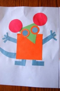 square mouse craft