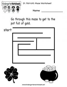 st-patricks-maze-worksheet-printable