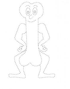 thigh bone trace