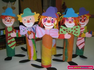 toilet paper roll clown crafts