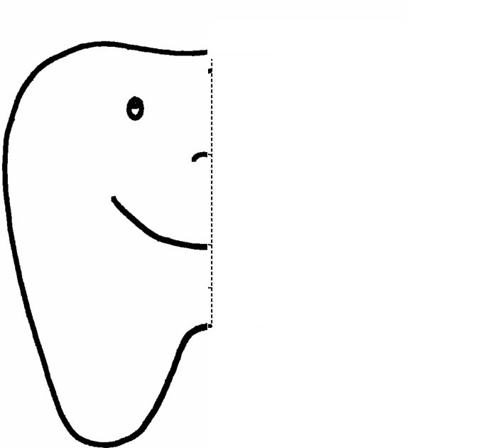 tooth  Symmetry Activity Coloring Pages
