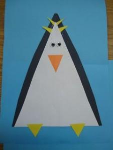 triangle penguin craft