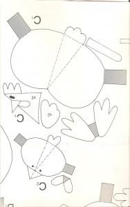 3d chicken template