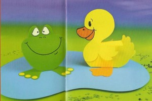 3d frog and duck craft