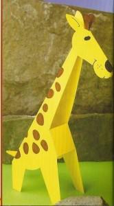 3d giraffe craft
