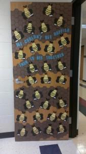 Bee classroom door