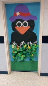 Crow and Corn Classroom Door Decoration