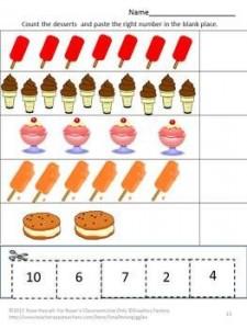 Cut and Paste Summer Packet Preschool Kindergarten