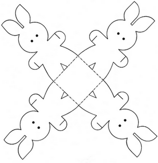 Easter basket template 1