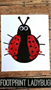 Footprint Ladybug Craft for Kids