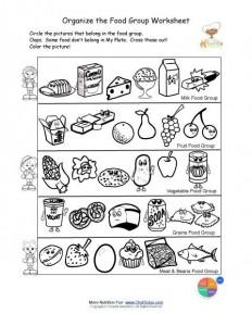 Free food groups printable