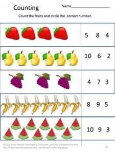 Fruit and Vegetable Worksheet Set